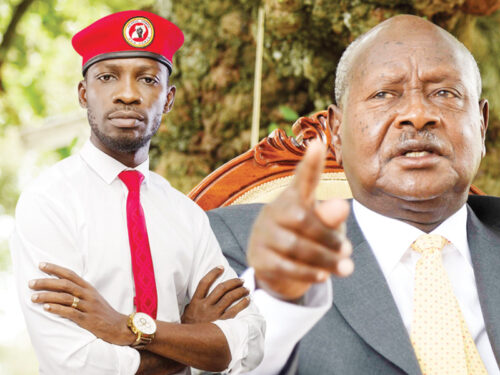 Bobi Wine and Museveni