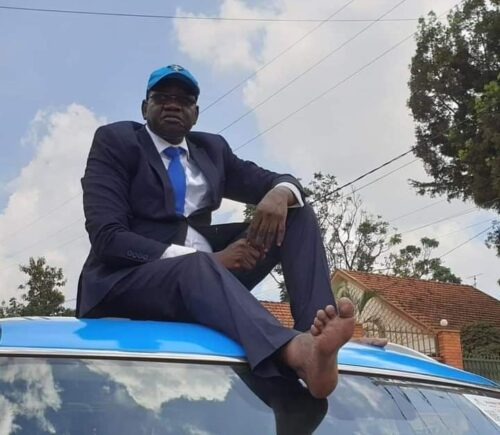 Barefooted Patrick Amuriat Oboi
