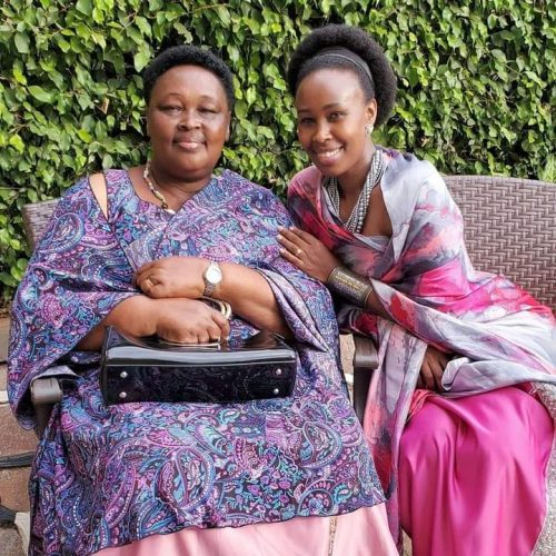 Barbie Kyagulanyi Itungo and her mother